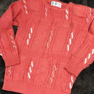 Vintage 80s pearls and bows sweater